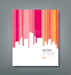 Cover magazine building colorful background vector