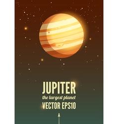 Jupiter vector image vector image