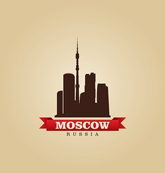 Moscow Russia city symbol vector image vector image