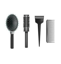 realistic detailed plastic brush set vector image
