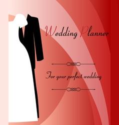 Wedding planner background vector image