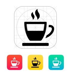 Half tea cup icon vector image vector image