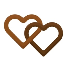Heart cake isolated vector image