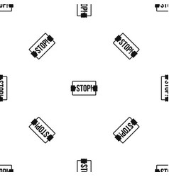 stop pattern seamless black vector image vector image