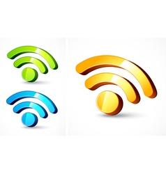 web feed format symbols vector image