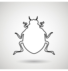 beetle silhouette design vector image