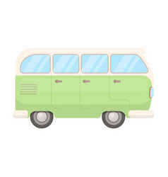 green bushippy single icon in cartoon style vector image vector image