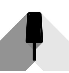 ice cream sign black icon with two flat vector image vector image