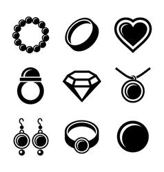 Jewelry icons set vector