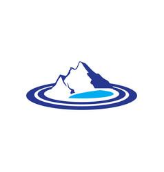 mountains lake logo image vector image