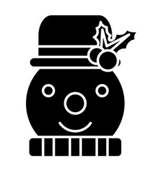 snowman icon black sign on vector image
