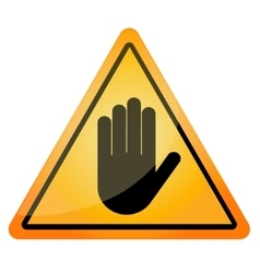 Stop - orange triangle stop sign vector