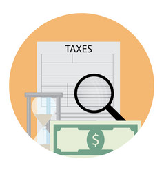 tax analysis icon vector image vector image