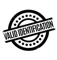 Valid identification rubber stamp vector