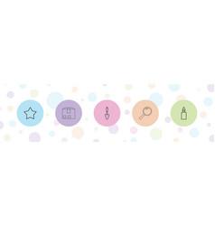 5 single icons vector