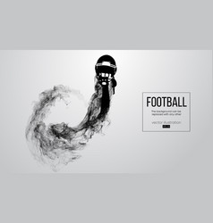 Abstract silhouette of a american football helmet vector