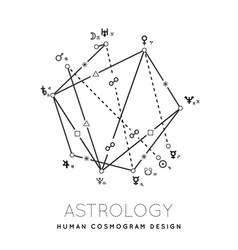 astrology cosmogram background vector image