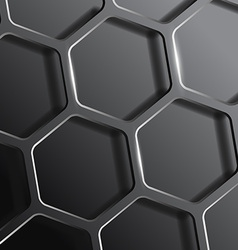 Background consisting of a honeycomb vector
