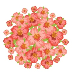 Background or card with pretty stylized flowers vector