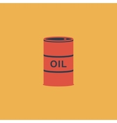 Barrels of oil icon vector