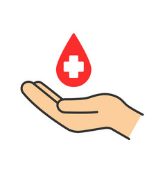 blood donation color icon vector image