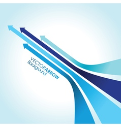 blue arrow strips vector image