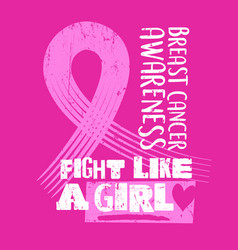 Breast cancer awareness month design vector