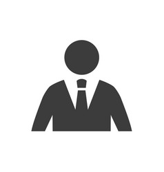Businessman icon on white background vector