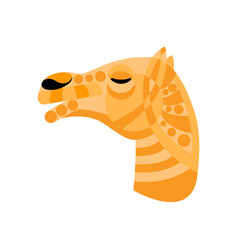 Camel ornated head vector