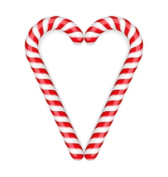Candy Canes Heart vector