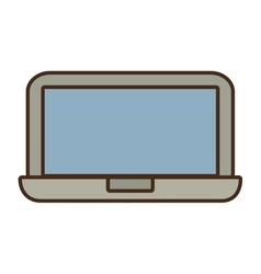 Cartoon laptop device technology digital icon vector