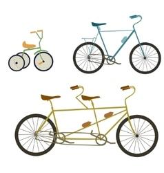 Children bicycle set vector image