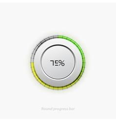 Clean round progress bar vector