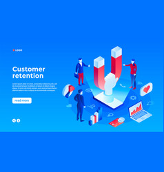 Client retention concept background isometric vector