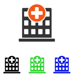 Clinic facade flat icon vector