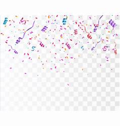confetti isolated festive vector image