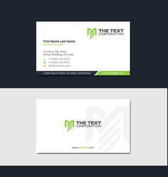 Corporate business card with letter m vector