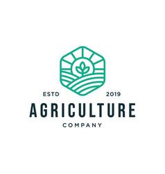 Farm land logo designs concept agriculture logo vector