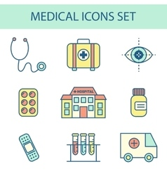 Flat Line Medical Icon vector image