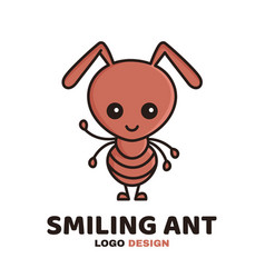 fun cute smiling smart ant vector image