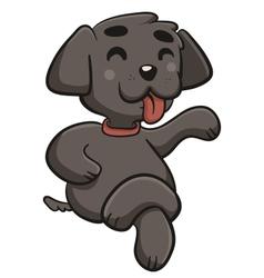 Happy Dog with Crossed Legs vector
