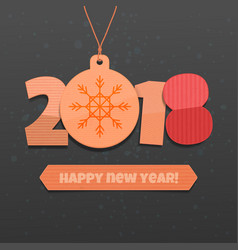 happy new year 2018 on a black background vector image