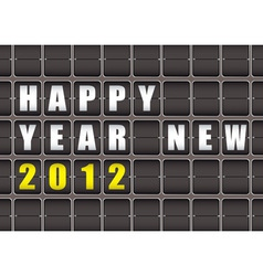 Happy new year railway ticker board vector