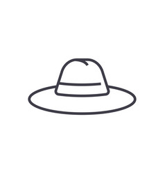 hat line icon sign on vector image