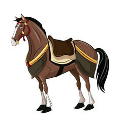 horse of samurai animal warhorse oriental vector image