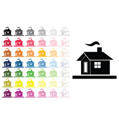 houses set in multiple colors vector image