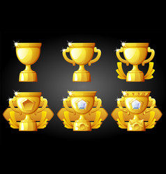 Improving rating gold cup for game vector