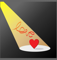 love in light and dark vector image