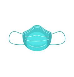 Medical face mask flat vector