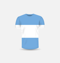 Mens t-shirt icon and argentina flag vector
